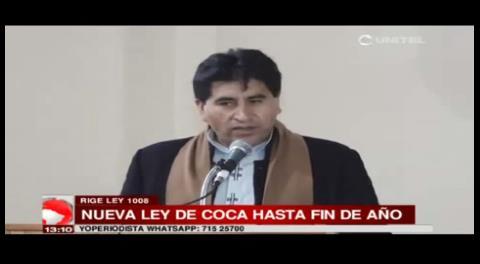 Ministro Cocarico anuncia nueva ley de coca para fin de año