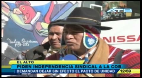 Campesinos piden romper acuerdo COB-Gobierno