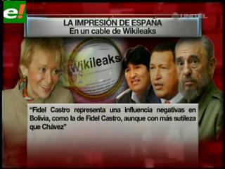"""Wikileaks: """"Gobierno español lamenta las influencias izquierdistas de Evo Morales"""""""