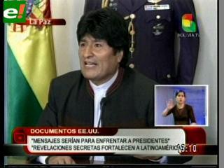 Caso WikiLeaks: Evo dice que jamás desconfiará de Cristina Fernández de Kirchner
