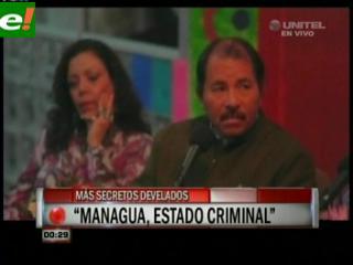 Wikileaks: EE.UU. dice que Nicaragua recibe dinero del narcotráfico y de Chávez