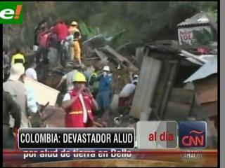 Ascienden a 24 los muertos por el alud en Colombia