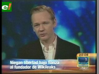 El juez deniega la libertad bajo fianza para Assange