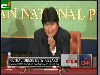 Evo: Cables de WikiLeaks no lograrán enfrentar a presidentes del sur