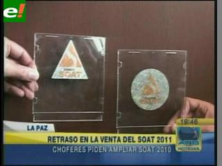 Venta del SOAT se iniciará recién la última semana de diciembre