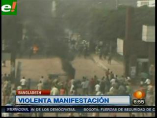 Protestas laborales en Bangladesh dejan tres muertos