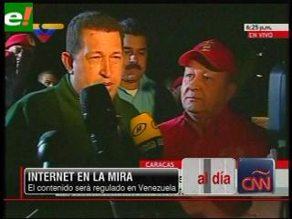 Chávez también podrá regular contenidos en internet
