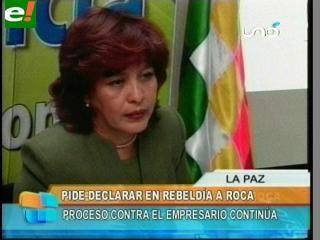 Suxo pide declarar en rebeldía a Humberto Roca