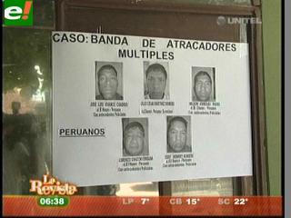 Peruanos sospechosos de cometer atracos son detenidos