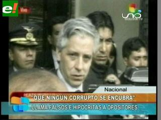 "García Linera: ""Que ningún corrupto se encubra, no sean falsos e hipócritas"""