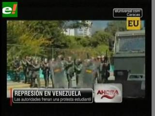 Dura represión contra los estudiantes en Caracas