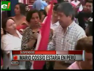 Embajada en Paraguay: Cossío se encuentra en Perú