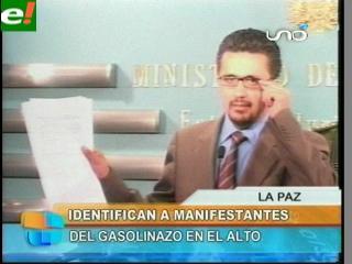 Gobierno identifica y anuncia procesos a manifestantes del gasolinazo