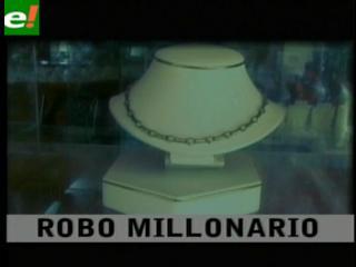 "Robo millonario en la ""Joyería Sisi"""