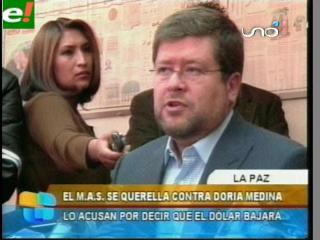 El MAS se querella contra Doria Medina
