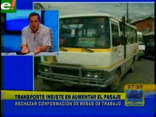 """Mario Guerrero: """"Insistiremos en aumentar la tarifa del transporte"""""""