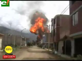 Gran explosión en la planta envasadora en Huánuco