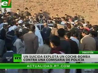 25 muertos en atentado suicida contra una comisaría de policía en Pakistán