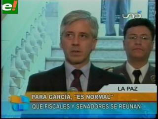 """García Linera califica de """"normal"""" la reunión de Isaac Ávalos con el fiscal Gilbert Muñoz"""