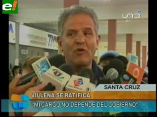 """Rolando Villena: """"Mi cargo no depende del Gobierno"""""""