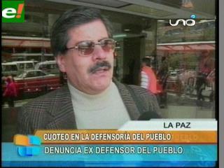 Albarracín denuncia cuoteo en la Defensoría
