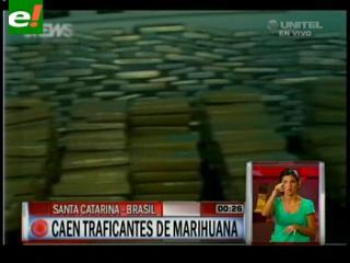 Caen traficantes de marihuana en Brasil