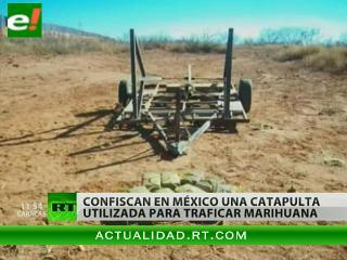 Confiscan en frontera mexicana una catapulta usada para traficar marihuana