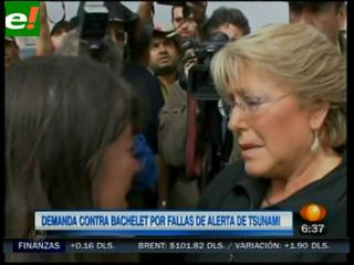 Demandan a Bachelet por no advertir sobre terremoto en Chile