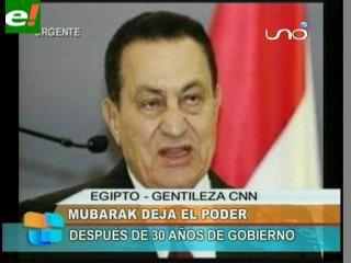 Renuncia el presidente Mubarak y Egipto festeja