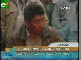 La Central Obrera Boliviana convoca a paro nacional de 24 horas el viernes