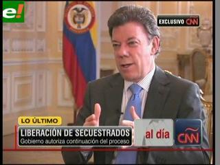 Santos autoriza continuar los operativos de liberación