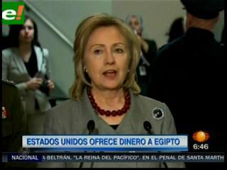 EEUU ofrece 150 millones para Egipto