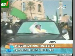 Libia: Al menos 24 muertos en manifestaciones