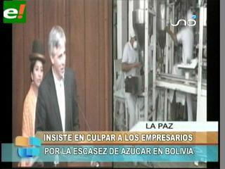 García Linera culpa a los empresarios por la escasez de azúcar