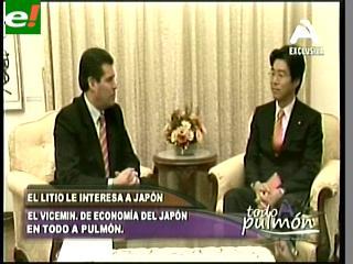 Japón quiere ser socio de Bolivia y ofrece ayuda para explotar litio