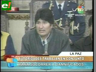 Gobierno, Alcaldía y Gobernación acuerdan estrategias para ayudar a damnificados