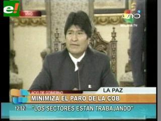 """Evo: """"El discurso de la COB está politizado"""""""