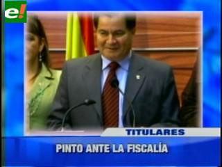 Roger Pinto declaró ante la fiscalía