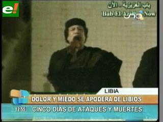 """Gadafi reaparece en televisión para animar a sus seguidores: """"Al final saldremos victoriosos"""""""