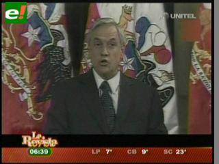 """Piñera: """"Las declaraciones del presidente Morales constituyen un serio obstáculo"""""""