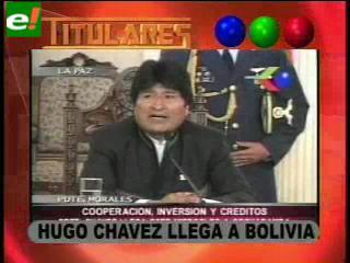 Chávez llega a Bolivia este jueves