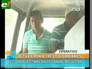 Detienen a tres colombianos en Santa Cruz