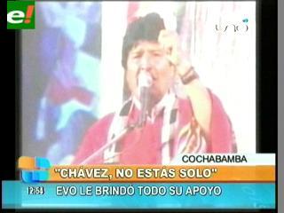 """Evo: """"Chávez, aquí está tu pueblo para defender la revolución bolivariana"""""""