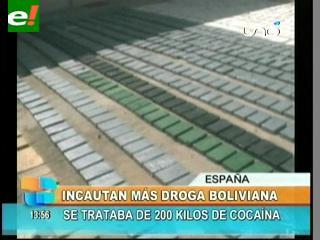 Hallan 200 kilos de droga boliviana en un puerto de España