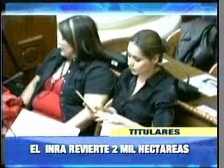 INRA revierte dos mil hectáreas de tierra a la diputada Adriana Gil