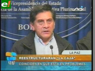 """Coca: """"La Caja Nacional debe ser reestructurada"""""""