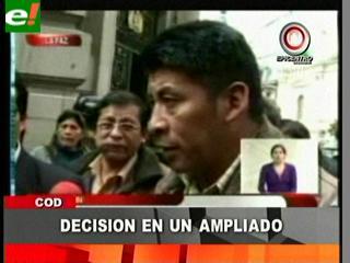Ampliado de la COB decidirá si hay acuerdo con el Gobierno