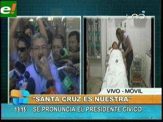 Herland Vaca Díez: «Mostraremos a Bolivia que Santa Cruz es libre»