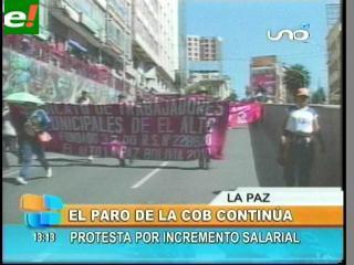 Jornada de protestas en La Paz