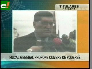 """Fiscal General propone """"Cumbre de Poderes"""""""